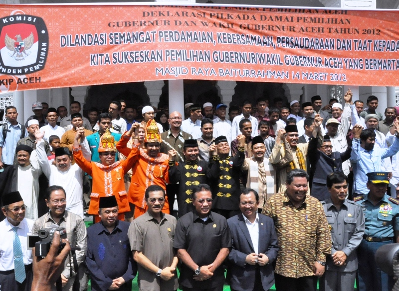 The Race For No1 Has Begun Candidates For Governor In Aceh Pledge