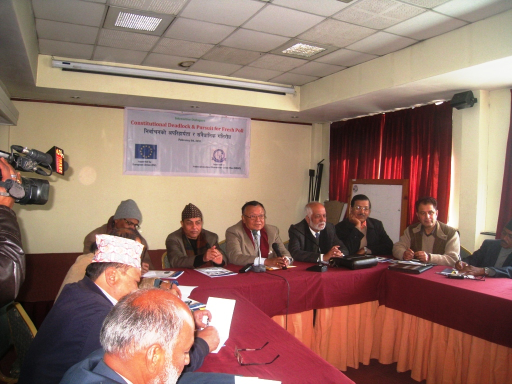 "National Election Observation Committee(NEOC, Nepal) Holds Dialogue On the ""Constitutional Deadlock & Pursuit for a Fresh Poll"" in Nepal"
